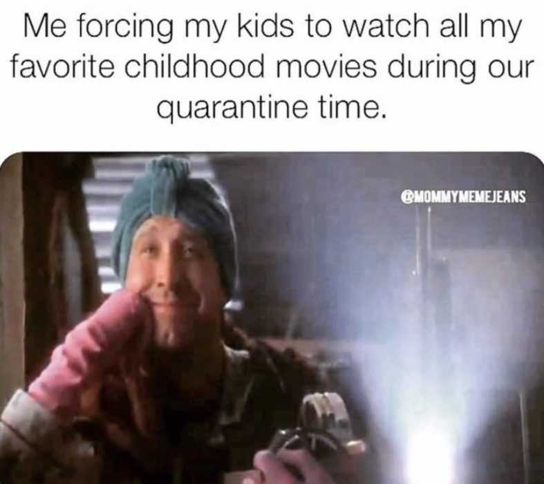 homeschooling memes - forcing kids to homeschool by watching favourite childhood like Griswalds