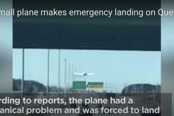 Airplane Merges Into Highway Traffic