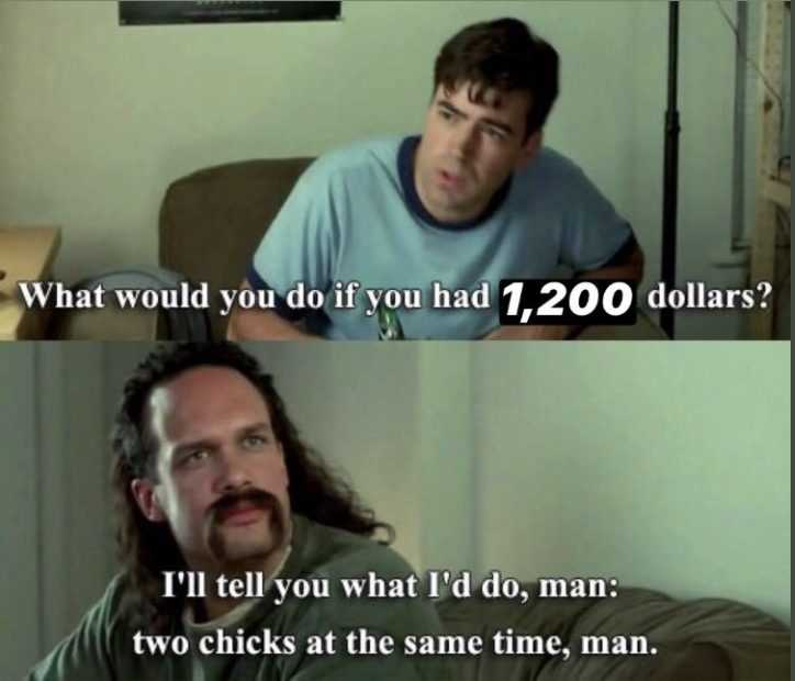 stimulus check memes - what would you do if you had 1200 dollars