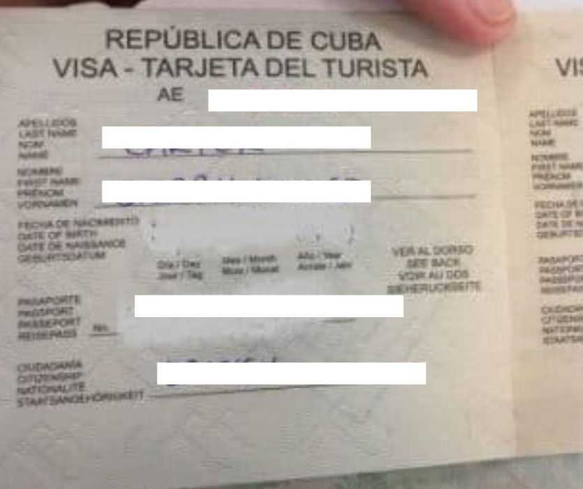 cuban tourist card - Canadian Passport