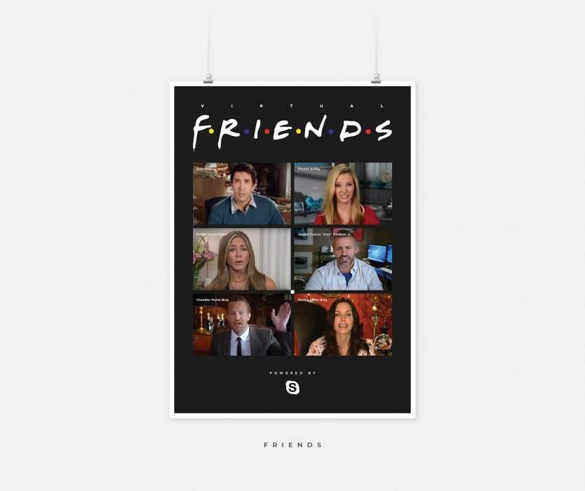 Post Corona TV Shows - friends - on Skype