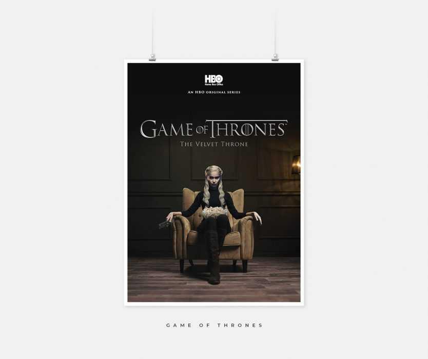 Post Corona TV Shows - Game of Thrones - velvet throne