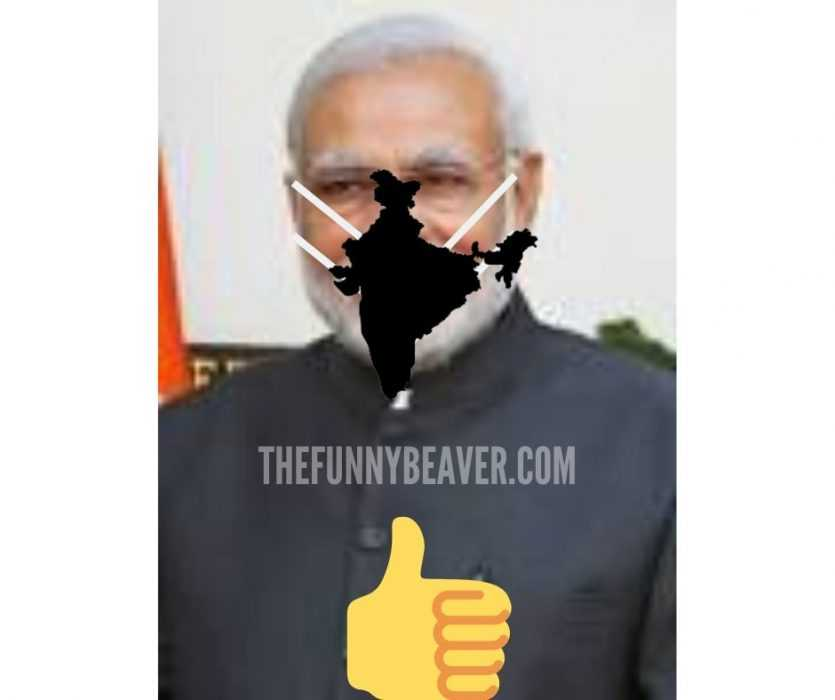 mask shaped countries meme - india