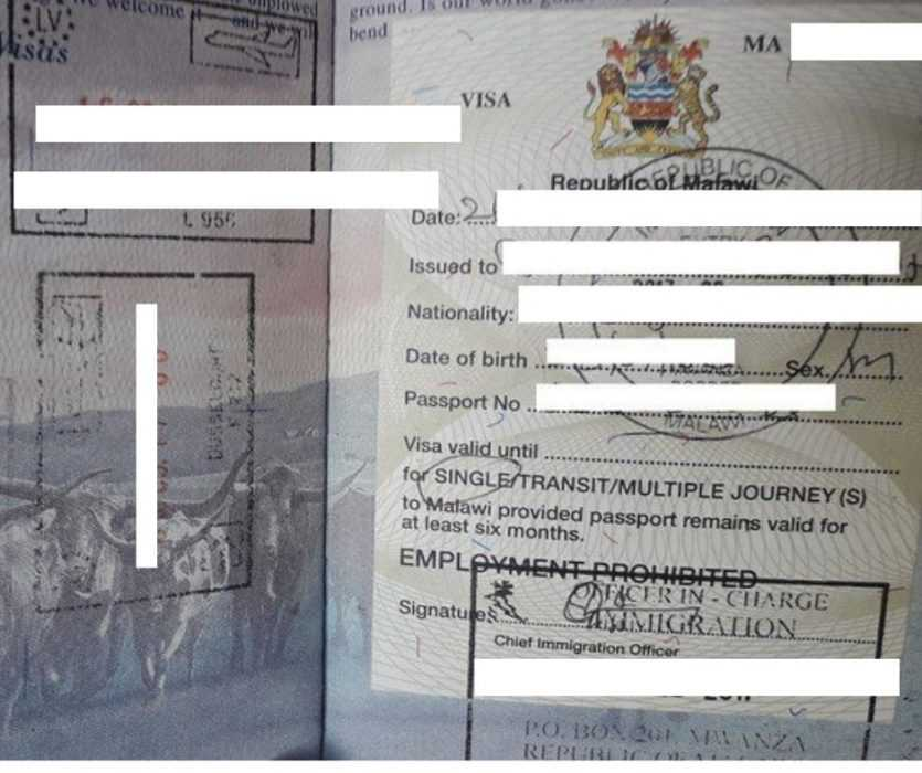 malawi visa - us passport