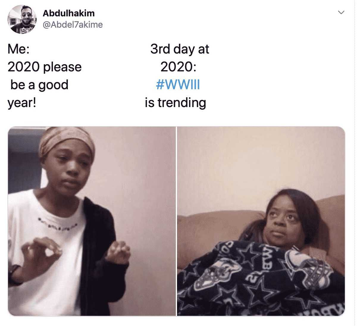 2020 memes - wwiii trending on 3rd day of 2020