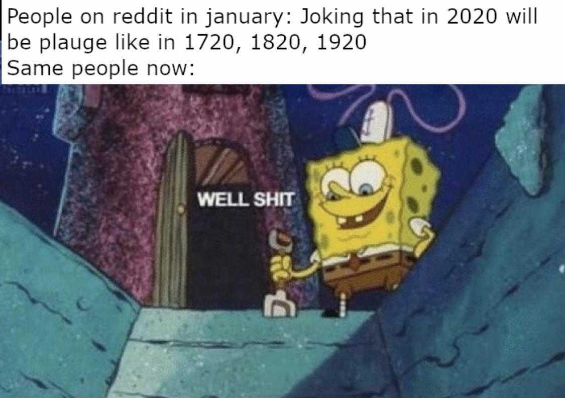 2020 memes - 2020 meme of sponge bob