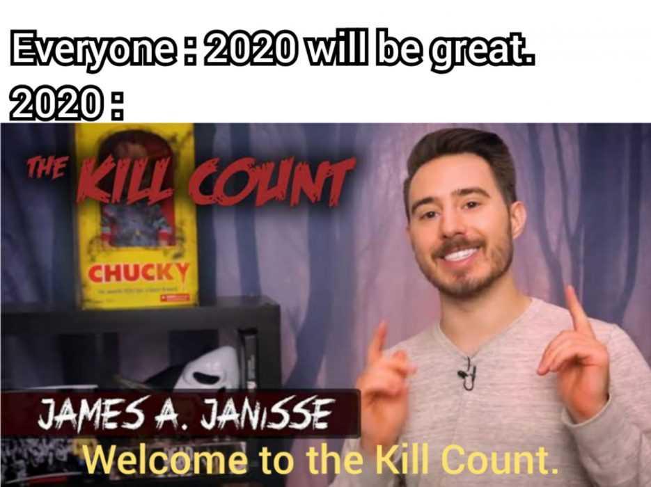 2020 memes - 2020 meme of kill count chucky toy