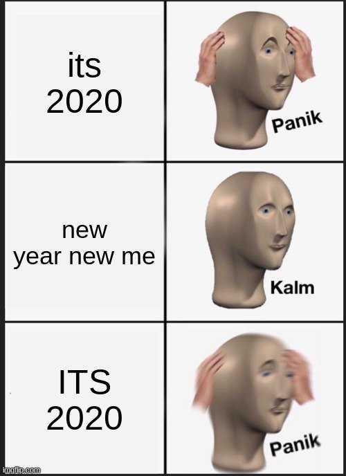 2020 memes - 2020 meme depicting new year resolution