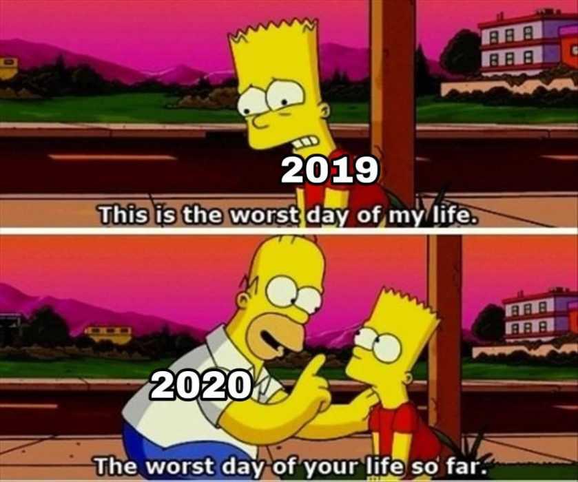 2020 memes - 2020 meme depicting homer correcting bart