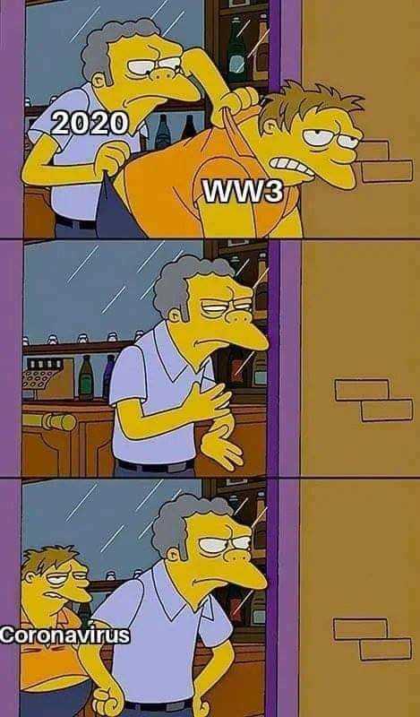 2020 memes - 2020 simpson meme
