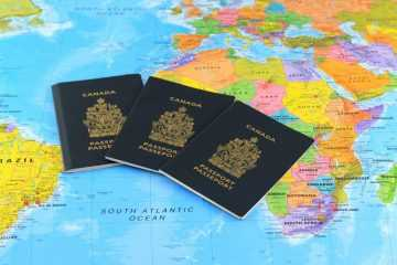 canadian passport - canadian passports on map