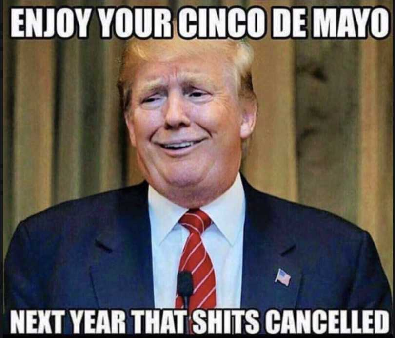 cinco de mayo memes - cinco de mayo meme showing how trump would disapprove