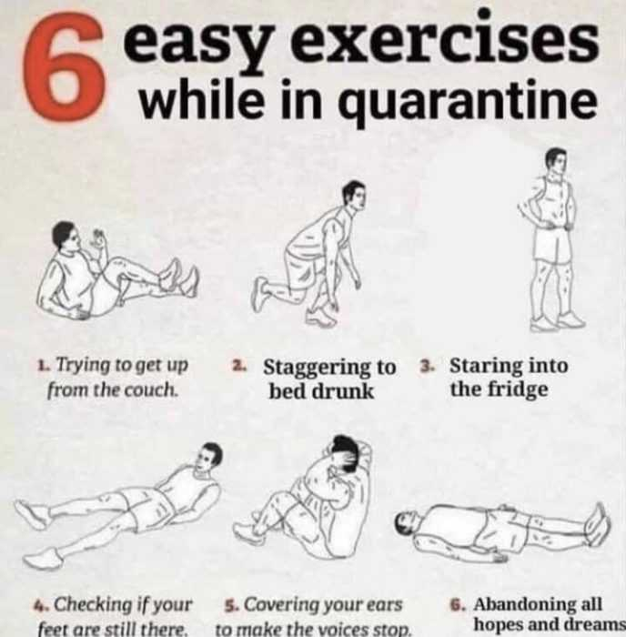 home fitness routine meme
