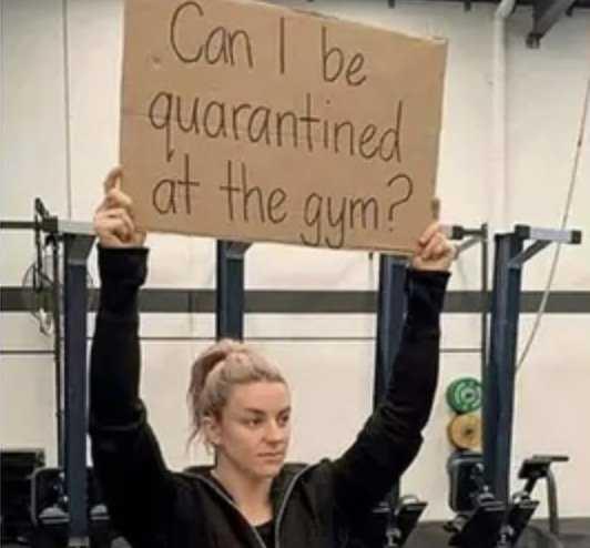 gym rat quarantine meme