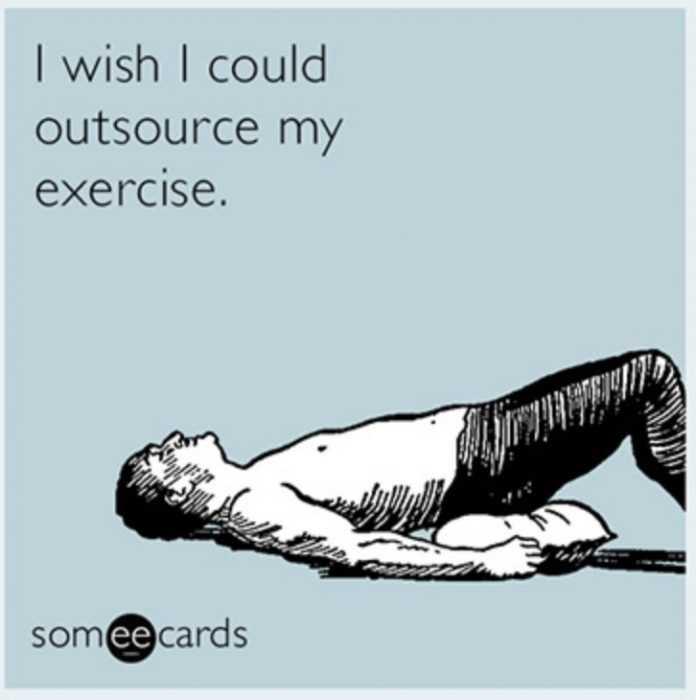 outsourcing exercise meme