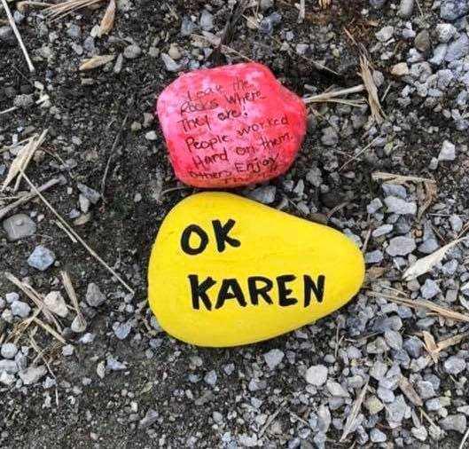 karen coronavirus memes - karen being sanctimonious about rocks