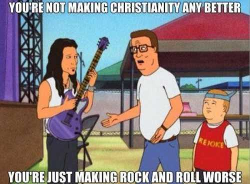 hank's quote about christian rock bands