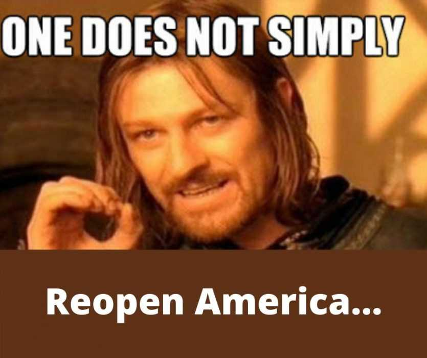 game of thrones one does not simply reopen america