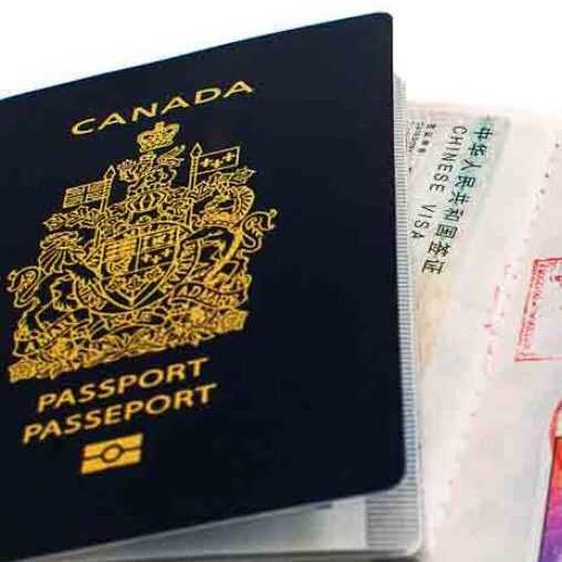 canadian passport - chinese visa in canadian passport