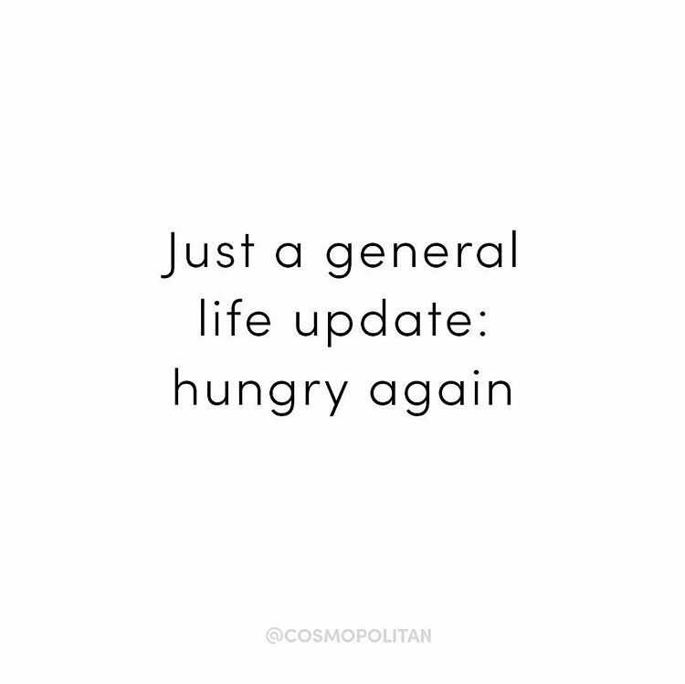 quote about being hungry again