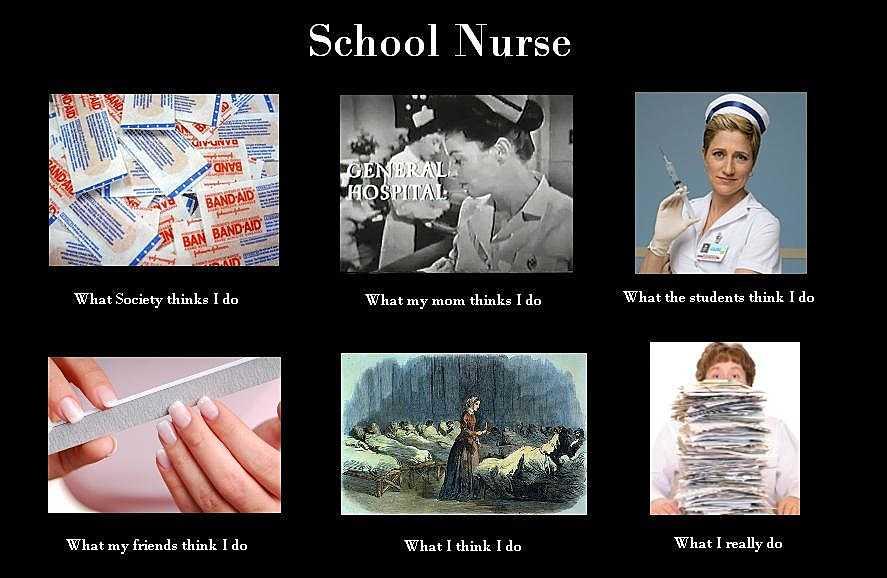 nurses week memes - nurses day meme - what people think school nurses do