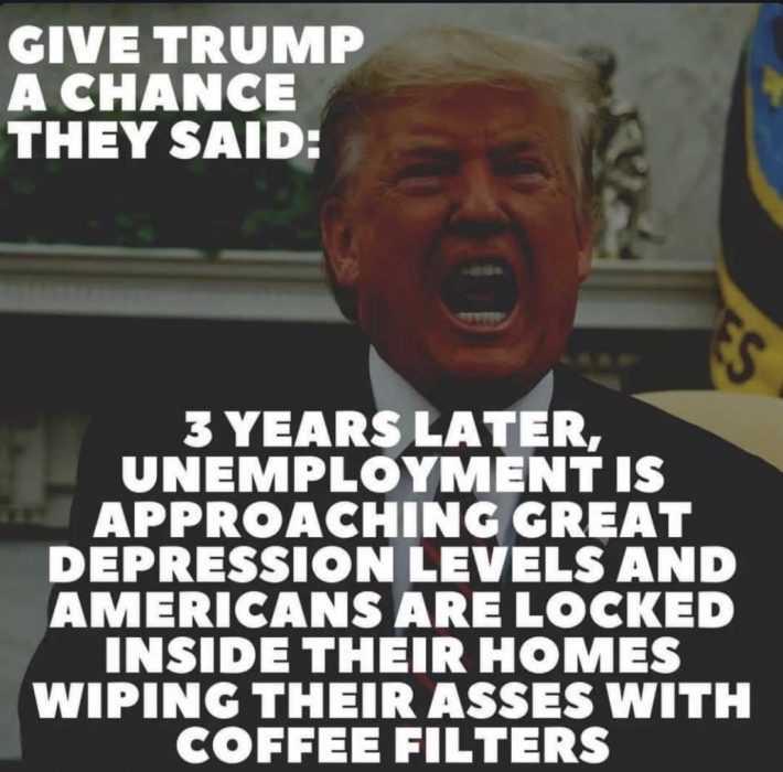 unemployment memes - trump and record unemployment meme