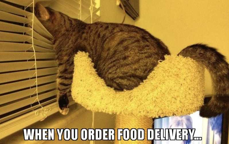 meme of what people do after ordering delivery