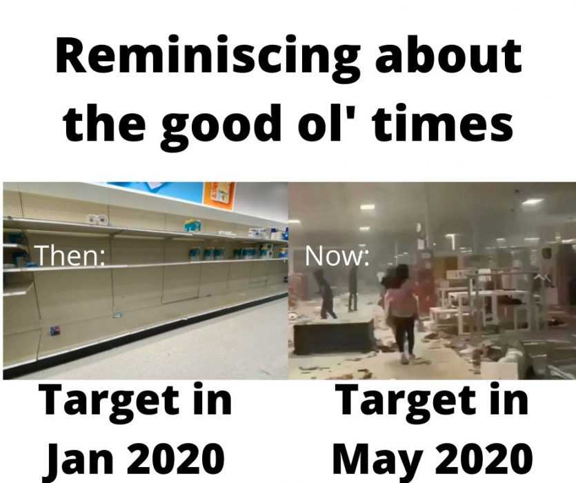 meme about the good ol' days at target