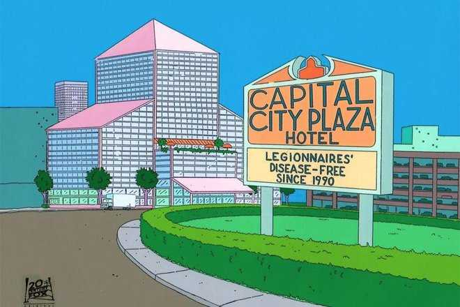 simpson's sign gag zoom background