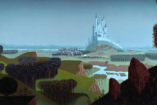 disney castle zoom background