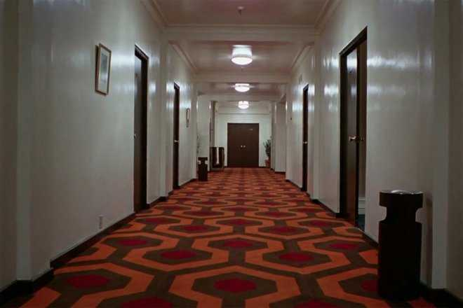 zoom background featuring hallway from the shining