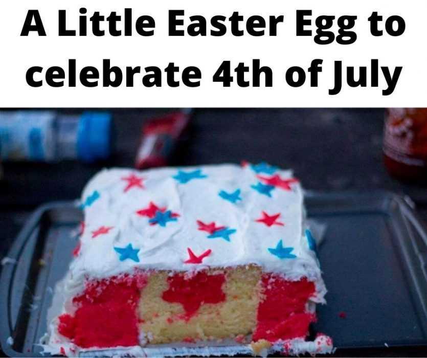 canadian flag sponge cake hidden by frosting of stars and stripes meme