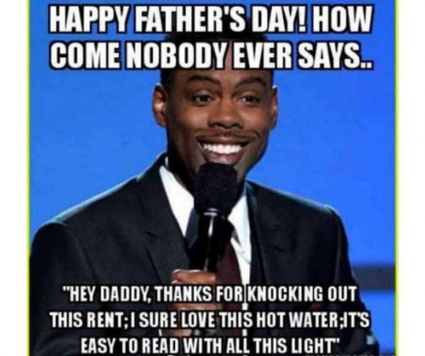 chris rock father's day message meme