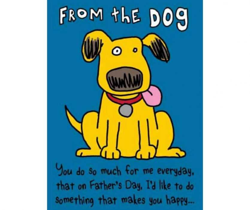From The Dog Father's Day Card