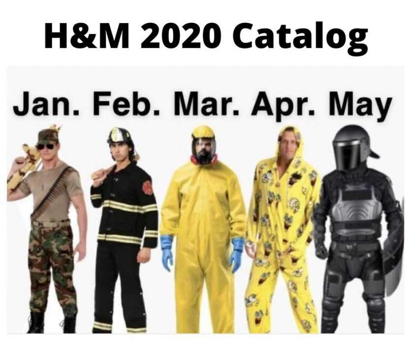 meme featuring h&m fashion changes in 2020