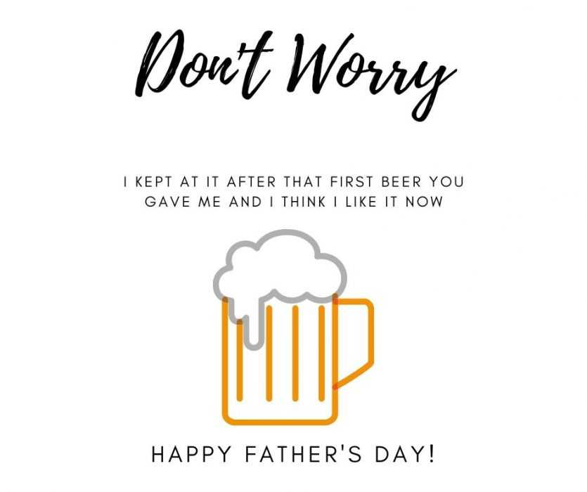 Like Beer Father's Day Card