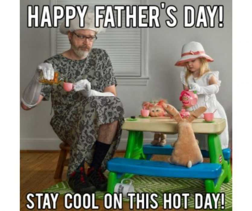 staying cool on father's day meme
