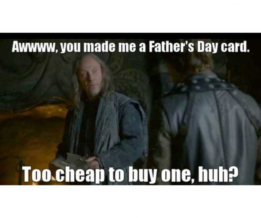 too cheap to buy fathers day card meme