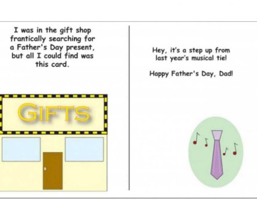 Musical Tie Upgrade Card