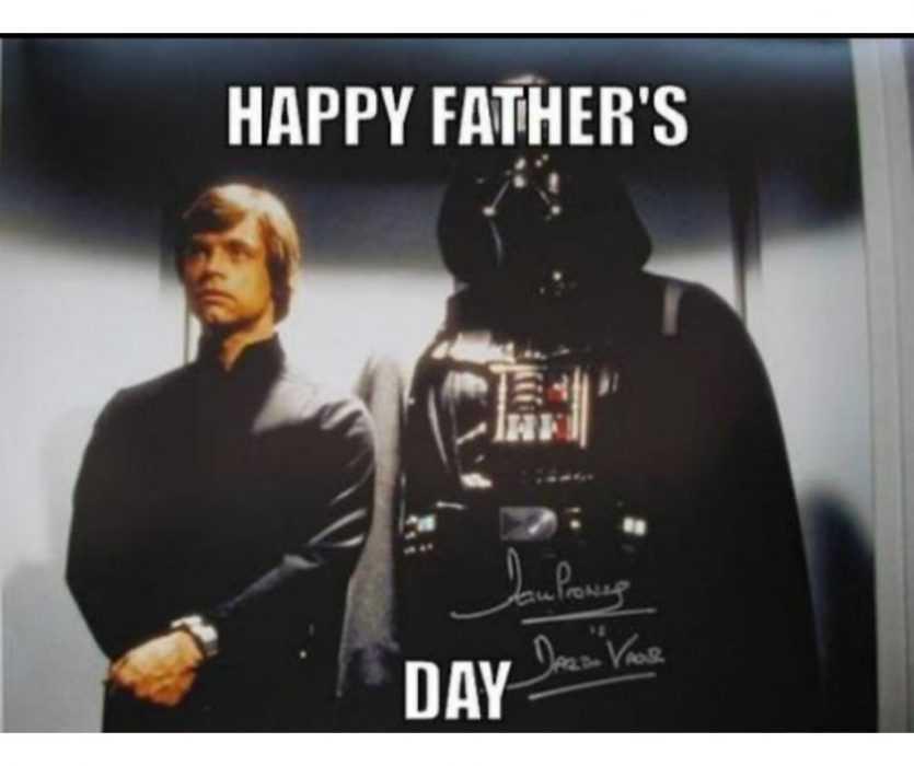 darth and luke father's day meme