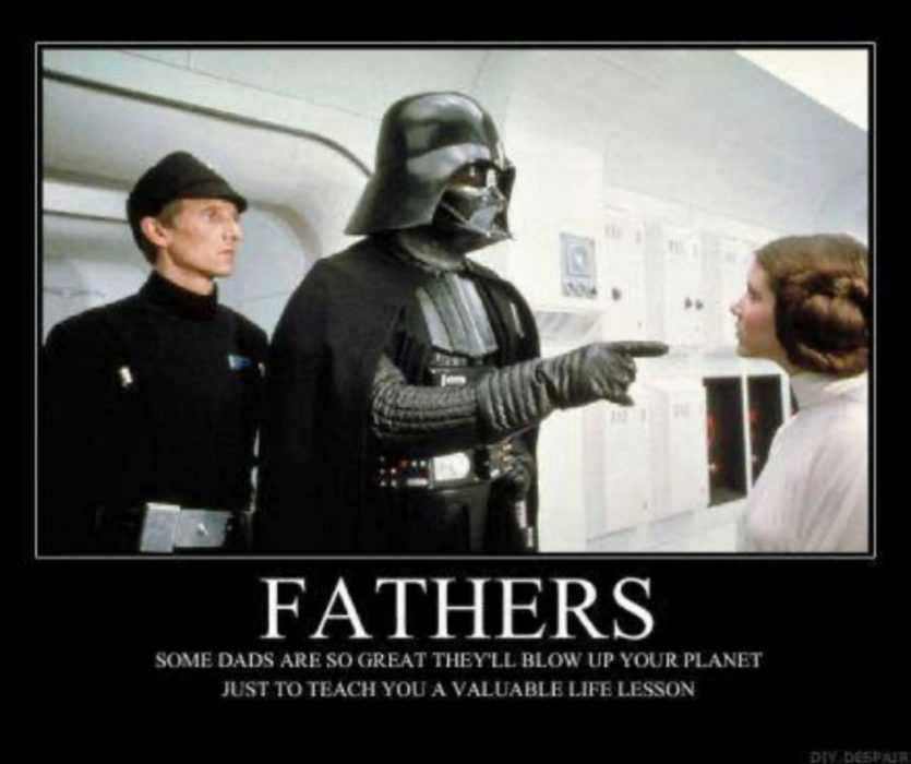 fathers so strict he'll blow up your planet to teach you lesson meme