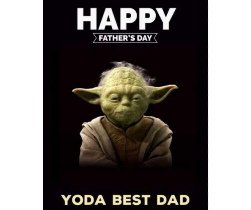 yoda best dad star wars father's day meme