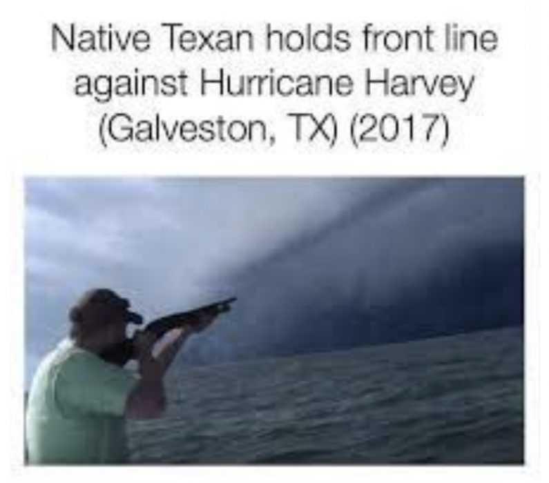 texan taking on hurricane