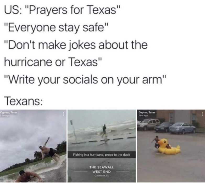 texans responding to hurricane meme