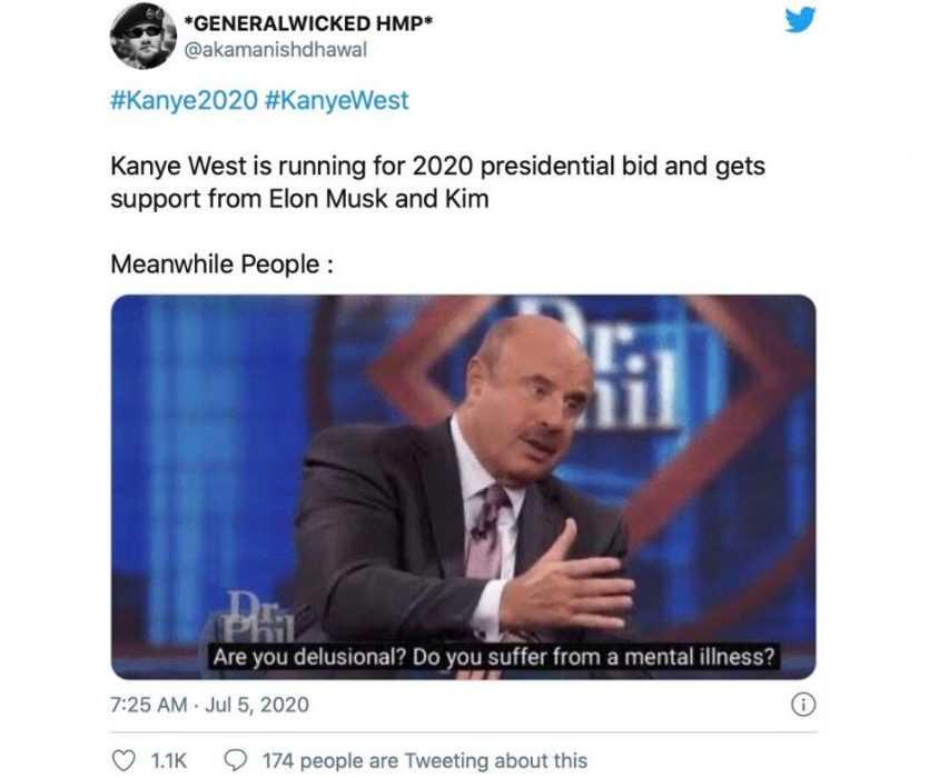 dr. Phil on Kayne for president meme