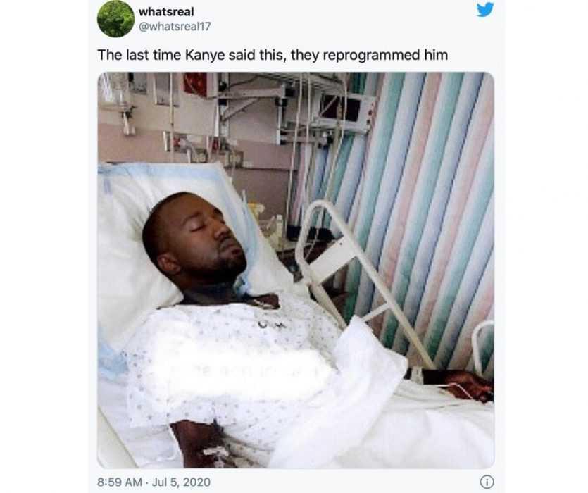 Kanye was reprogrammed meme