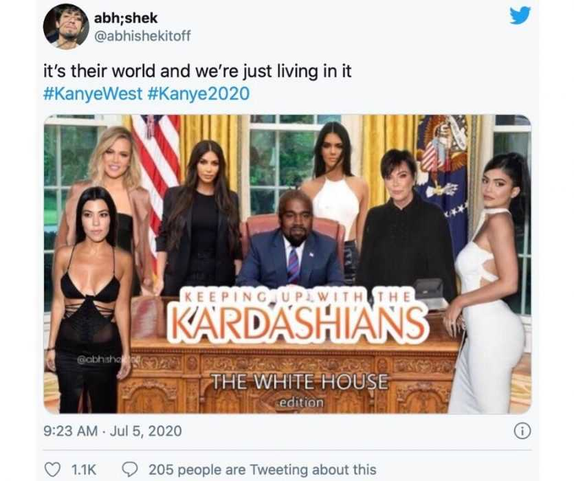 keeping up with kardashians White House edition meme