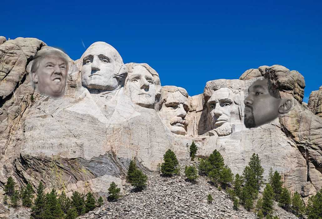 rushmore in 2024 if Kanye elected president meme