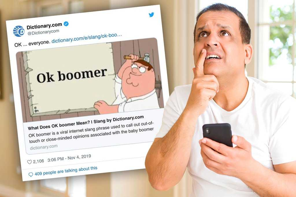 a boomer doesn't get ok boomer memes