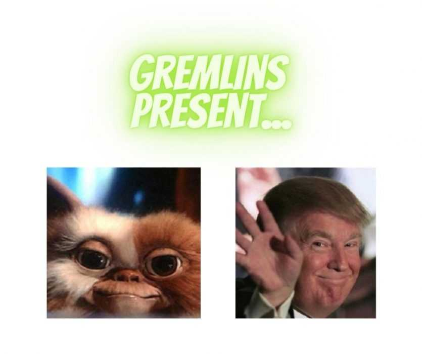 A Gremlin Making A Funny Expression Looks A Lot Like Trumps Forced Smile